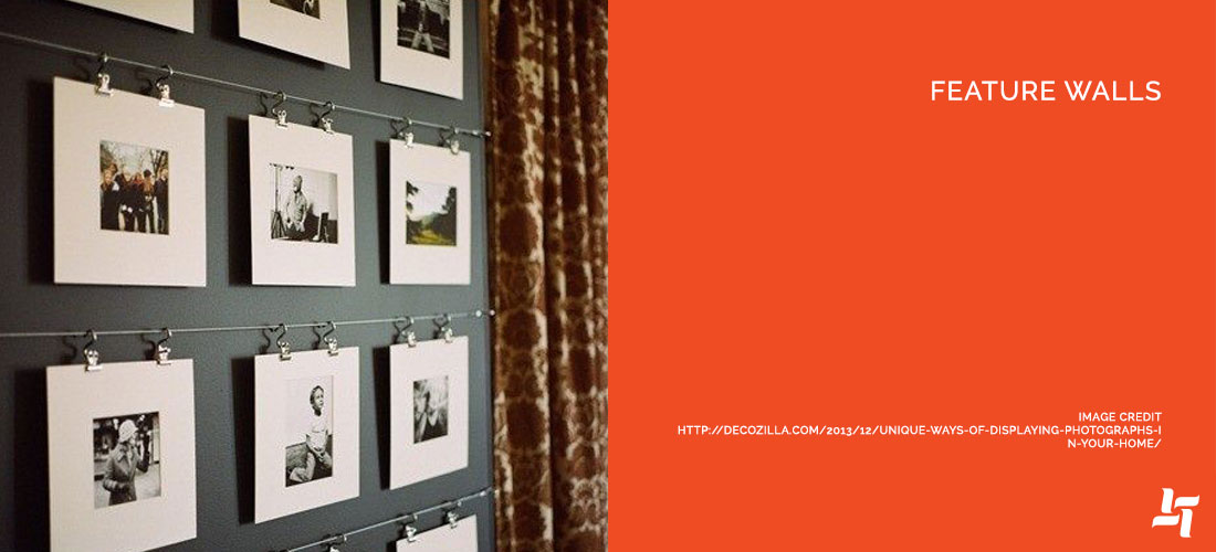 Featured Walls in the Family Room